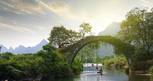 Yangshuo Bridge at sunset