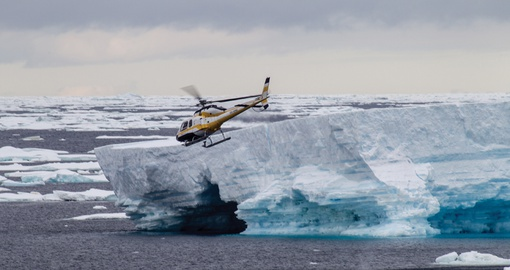 Helicopter Ride above the Ross Sea