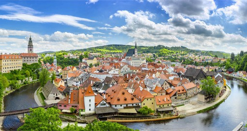 Cesky Krumlov in Bohemia's deep south, is one of the most picturesque towns in Europe