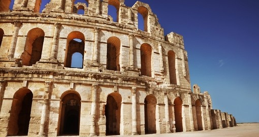 Visit historical Amphitheater in El Jem on your next Tunisia vacations.