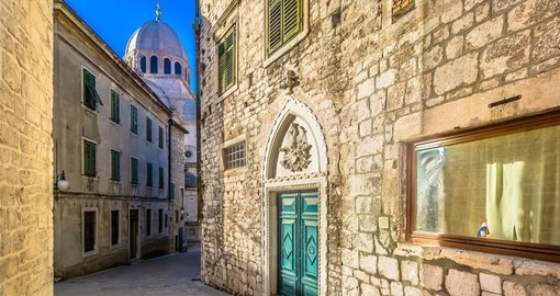 Visit historic Sibenik on Croatia vacation