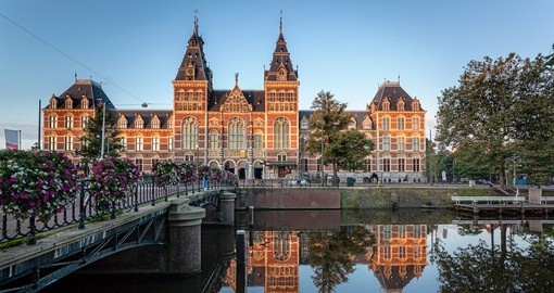 The Rijksmuseum, a National museum dedicated to arts and history in Netherlands.