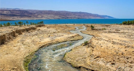 Jordan River flowing to the Dead Sea