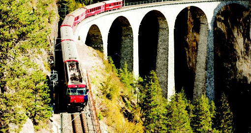 Viaduct crossing, Switzerland