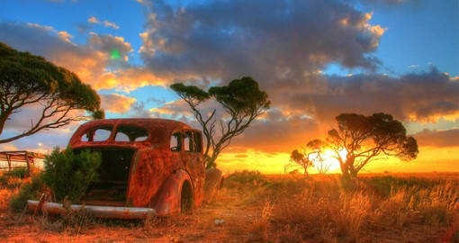 Experience the Australia Outback as your travel across the Nullarbor