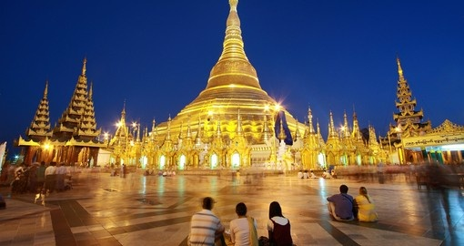 Shwedagon a 99 metre (325 ft) gilded pagoda and stupa is a great photo opportunity while on your Myanmar tour.