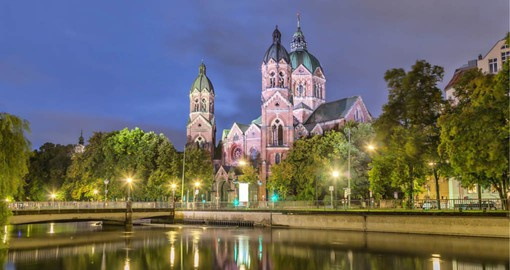 Built in Romanesque form, St. Luke's is the largest Protestant church in Munich