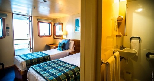 Twin Stateroom & Ensuite