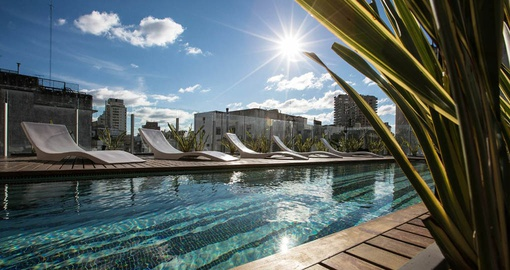 The pool at Flaat Recoleta Plaza Apartments