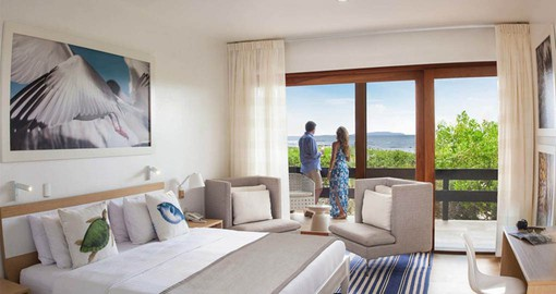 Comfortable rooms with sea views are a perfect part of your Galapagos Islands vacation