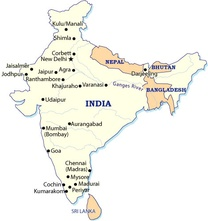 India Destination Map