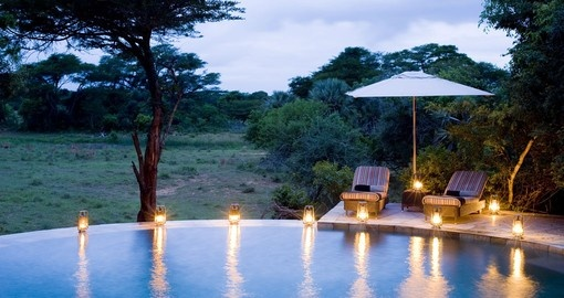 Enjoy all the amenities of the Phinda Forest Lodge  on your next South Africa Safari.