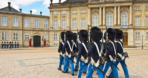 Royal Guard at Amalienborg Castle