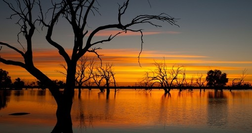 Lake Pinaroo in Sturt National Park - Outback NSW