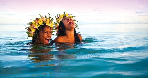 Enjoying the surf on your trip to the Cook Islands