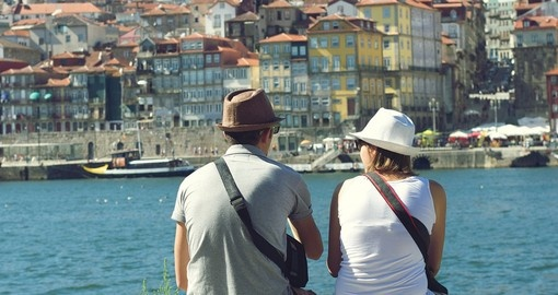 On the bank of Douro River in Porto