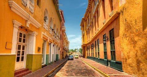 Stroll the streets of Colonia Cartagena on your Colombia Vacation