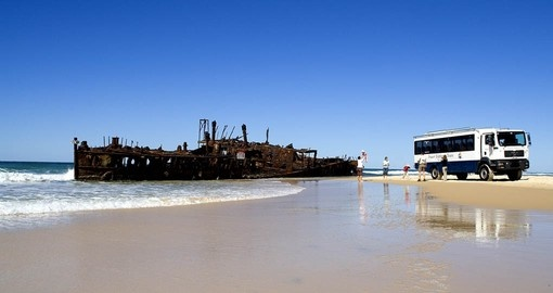 The Maheno shipwreck is a must see on your Australia Vacation