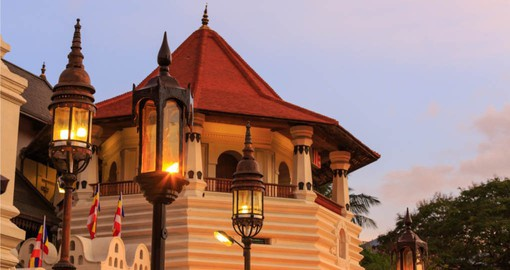 Visit the Buddhist Temple of Tooth Relic which is located in the old kings palace grounds on your Sri Lanka Vacations