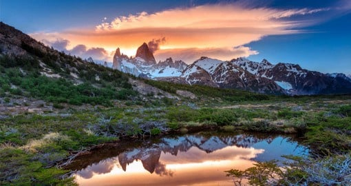 Fitz Roy is Argentina's most famous mountain and was first climbed in 1952