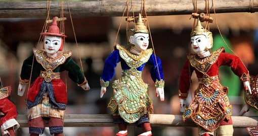String puppets are a tradition in Myanmar