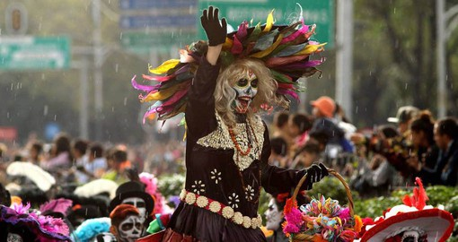 The Day of the Dead or Día de Muertos unfolds over two days in an explosion of color and life-affirming joy