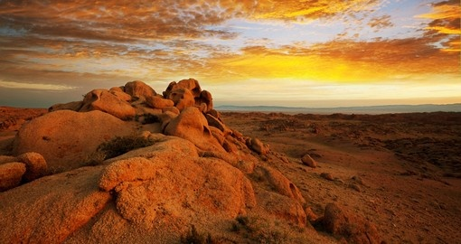 Gobi Desert at sunrise
