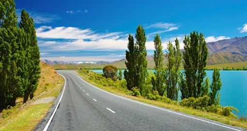 Enjoy beautiful landscape on your drive during your next trip to New Zealand