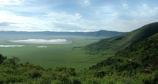 Visit Ngorongoro Crater sits and enjoy its beauty during your next trip to Tanzania.