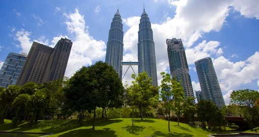 Surround yourself with great architectural marvels such as the Petronas Twin Towers on your Trip to Malaysia