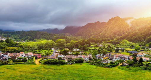 Furnas village on Sao Miguel Island is at the heart of the Azores geothermal region