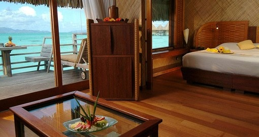 Explore all the amenities of the InterContinental Bora Bora Le Moana Resort during your Bora Bora Vacations.