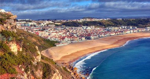 Visit the beautiful coast at Nazare on your Portugal Vacation