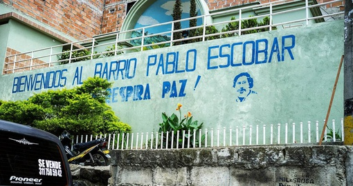 Barrio Pablo Escobar was formally a stronghold of the infamous Cartel de Medellin