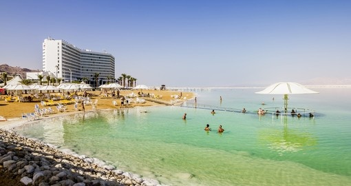 The beaches of the dead sea