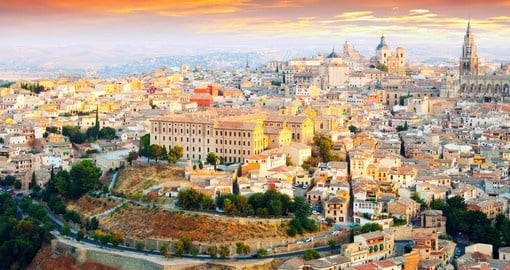 Picturesque dawn view of Toledo, Spain