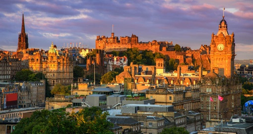 Explore Edinburgh Castle beautifully situated on the Castle Rock on your next Scotland vacations.