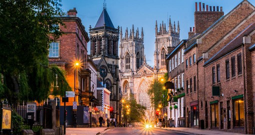 York, home to the largest Gothic Cathedral in Northern Europe