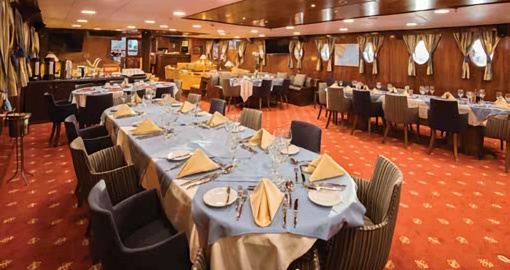 The Dining Area on the M/S Galileo.