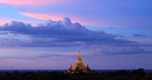 Take in a Myanmar sunrise on your Myanmar Tour