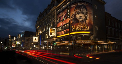 Shaftesbury Avenue. The heart of London's West End Theatre scene