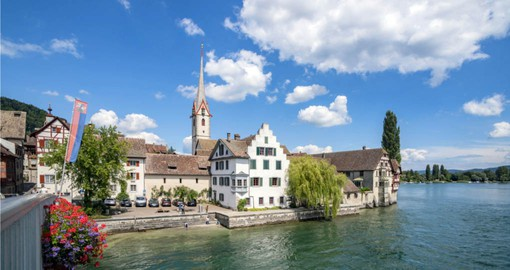 Stein am Rhein in the Canton of Schaffhausen is visited on your Switzerland Vacations