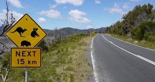 Road sign at a national park in Victoria