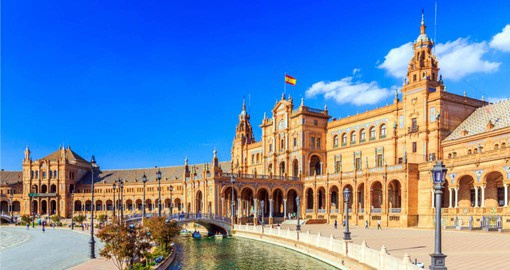 Begin your Spain holidays with a visit to the Plaza de Espana in Seville