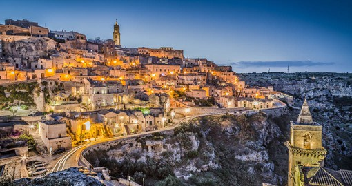 The ancient town of Matera is renown for it's cave dwellings know as sassi