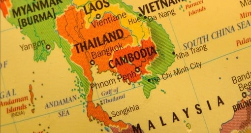 Geography Map Of Asia.Thailand Geography And Maps Goway Travel