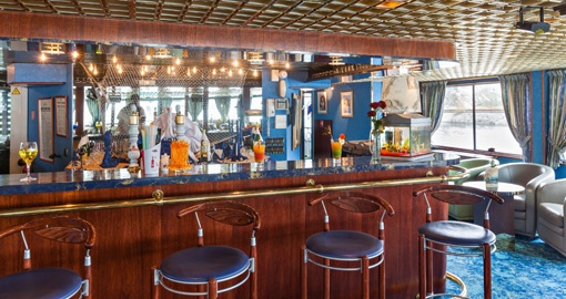 The Bar on the MS Victor Hugo.