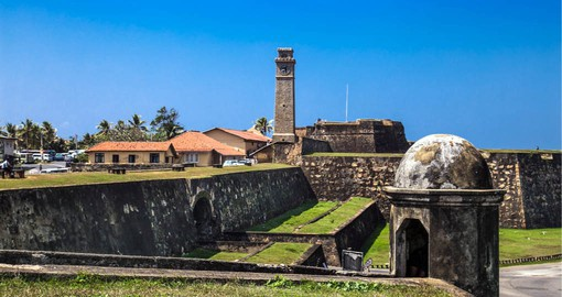 Built by the Dutch in 1663, Galle's Fort is surrounded on three sides by the ocean