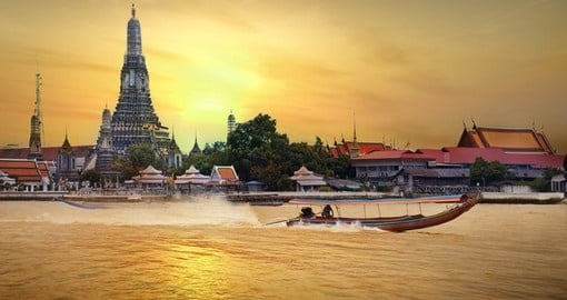 Wat Arun - among the best known of Thailand's landmarks