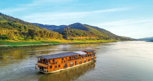The Mekong Sun is a unique boutique ship capable of mastering the wild sections of the upper Mekong